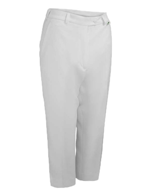 Emsmorn Bowls Ladies Cropped Trousers White (Clearance)
